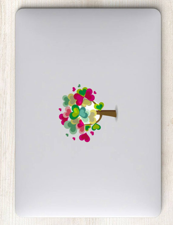 dán macbook hình valentine