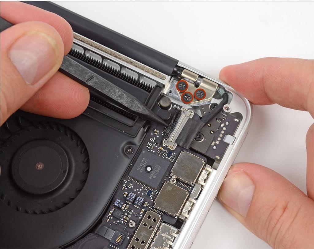 ốc vít bản lề màn hình macbook pro retina