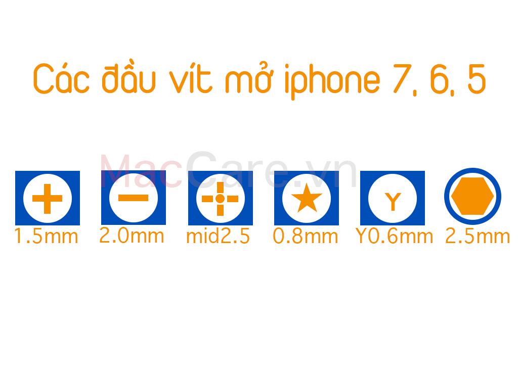 mở ốc vít trên iphone 7
