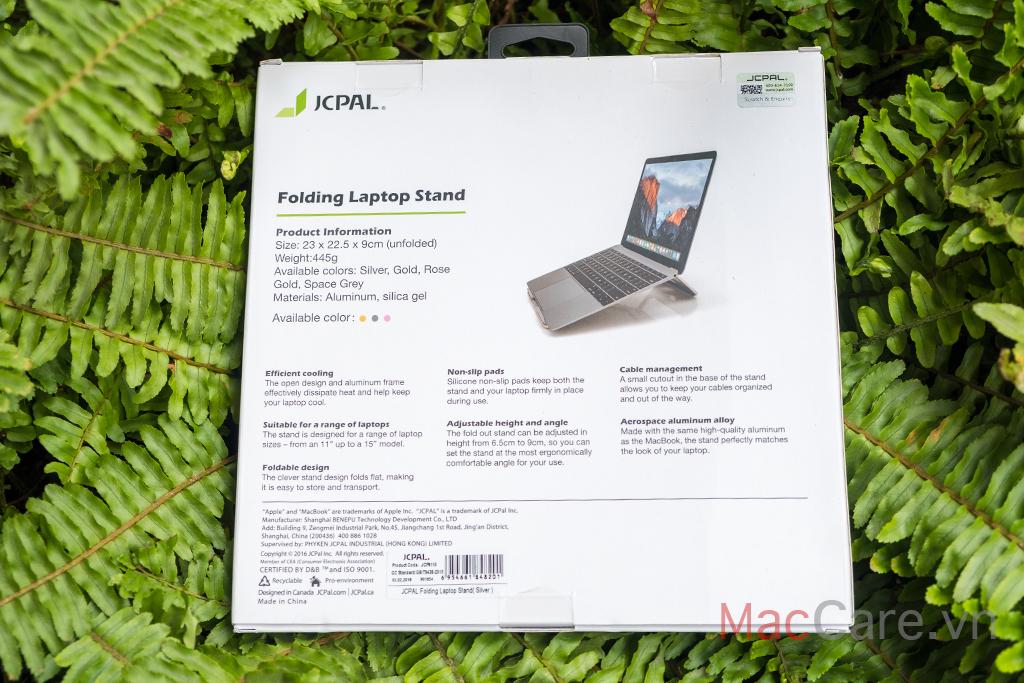 folding aluminum macbook laptop stand