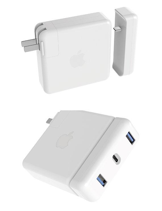 đầu chuyển gắn sạc 87w macbook pro 15inch hyperdriver usb-c