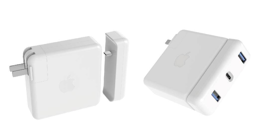 cáp sạc chuyển đổi hyperdrive usb-c cho bộ sạc 87w của macbook pro 15inch