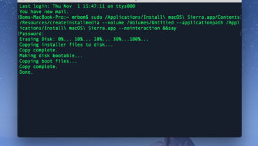 Tạo bộ cài đặt MacOS bằng USB cài mới Macbook, iMac