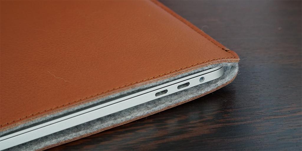 túi da đựng macbook pro woolnut