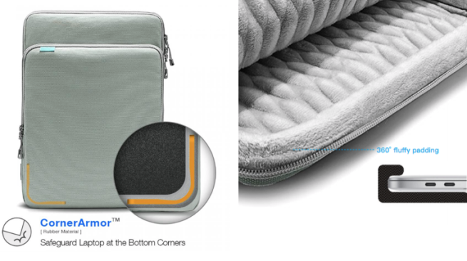 túi chống sốc tomtoc 360° protection premium laptop sleev