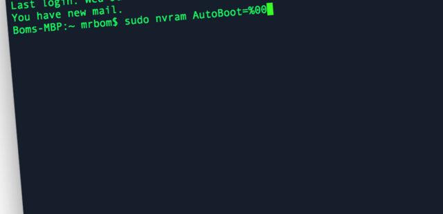 Tắt/Bật Auto Boot trên Macbook – Tự động khởi động khi mở nắp