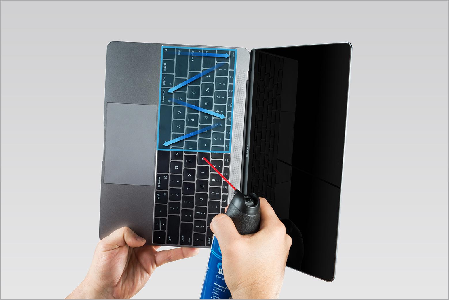 vệ sin bàn phím macbook