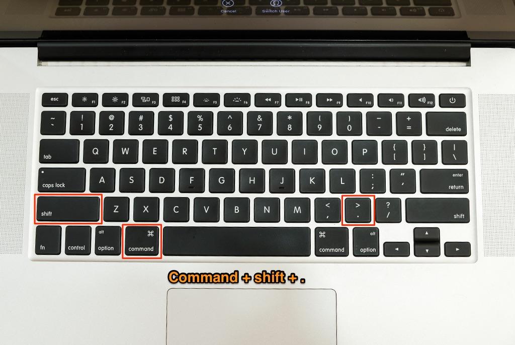 hiển thị file ẩn trên macbook, imac