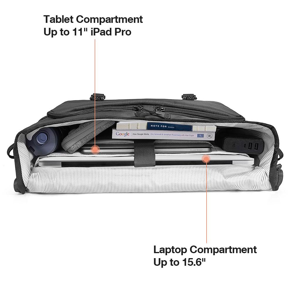 túi chống sốc tomtoc 15.6inch messenger bag