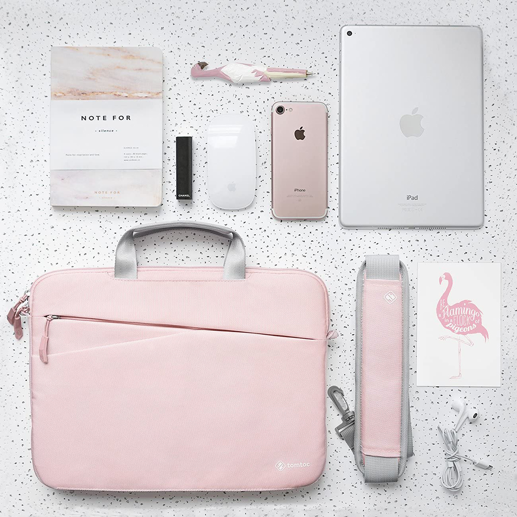 túi tomtoc màu hồng nhạt