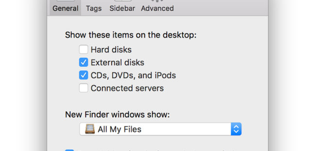 Hiển thị ổ cứng Macbook, iMac ra Desktop