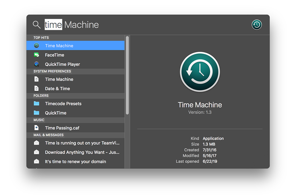 time machine macos