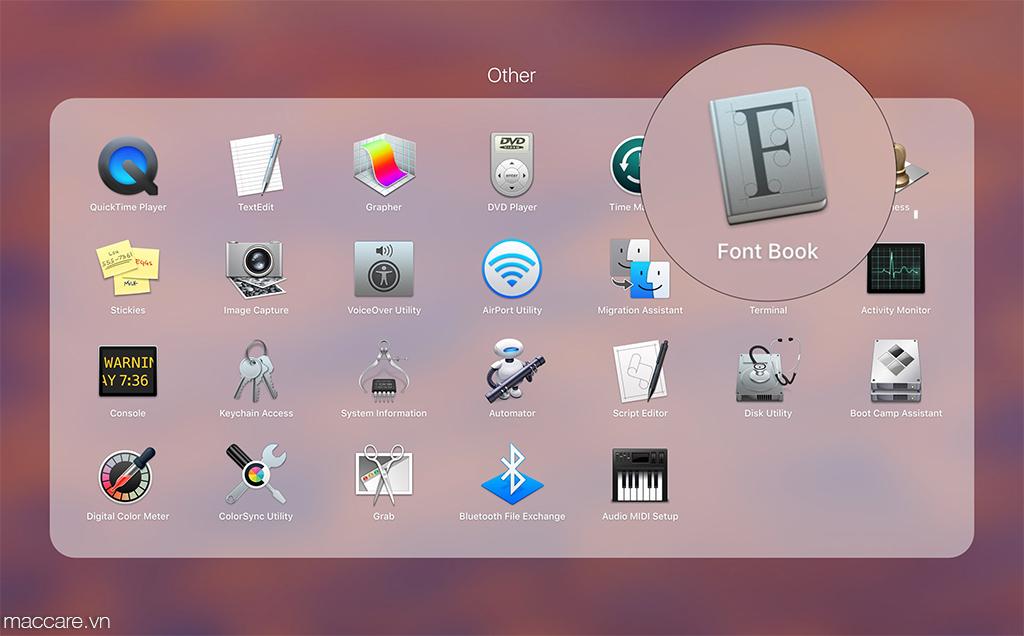 cài font chữ cho macbook