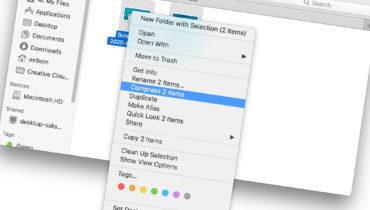 Làm thế nào để nén (Zip) file trên Mac