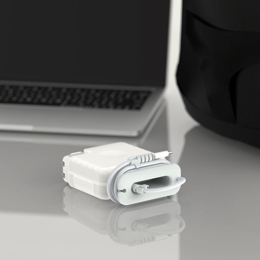 combo ốp sạc, nút chống gãy đầu dây sạc macbook