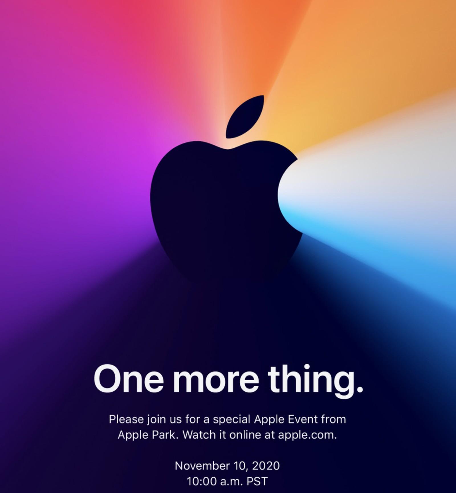 Apple thông báo sự kiện tháng 11 ra mắt Apple Silicon Mac