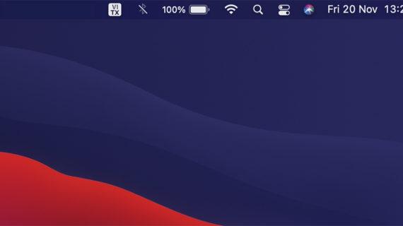 Hiển thị phần trăm pin trên macOS Big Sur