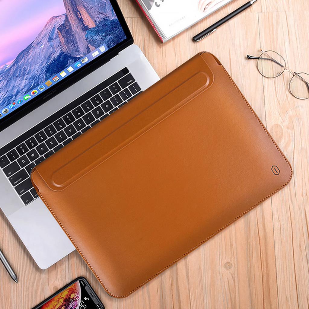bao da macbook màu nâu da bò