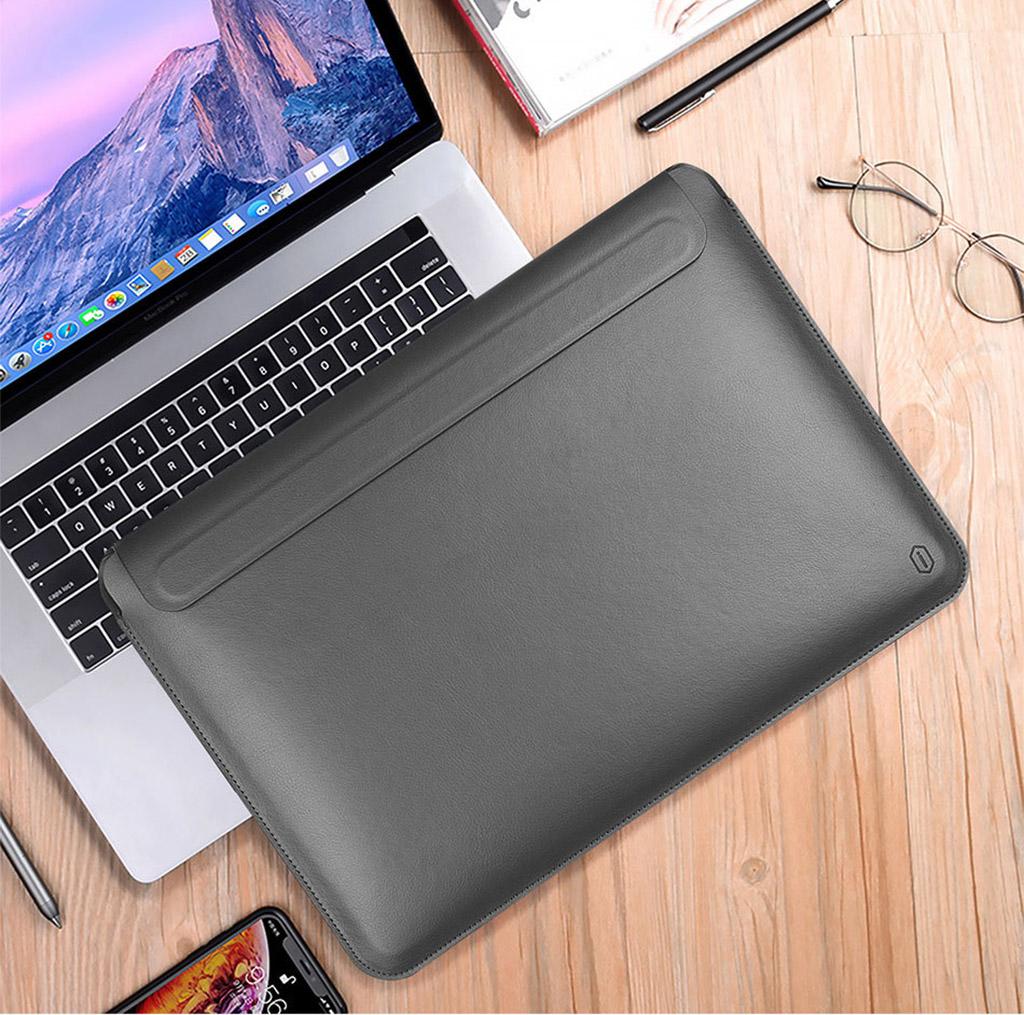 bao da macbook màu xám