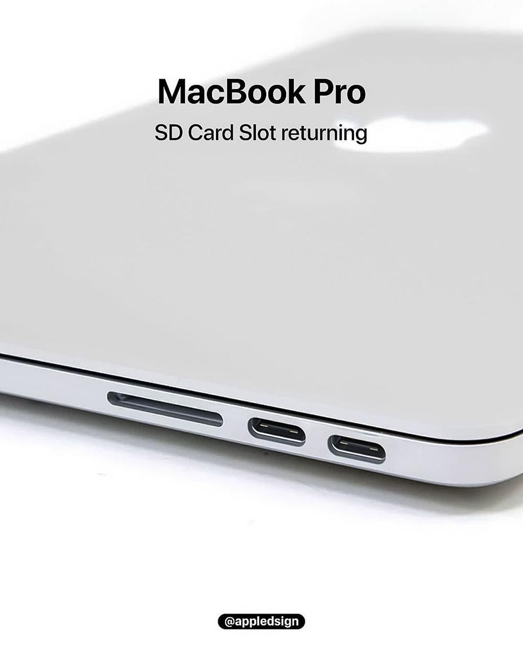 MacBook Pro 2021 được cho là sẽ có sự trở lại của khe đọc thẻ SD