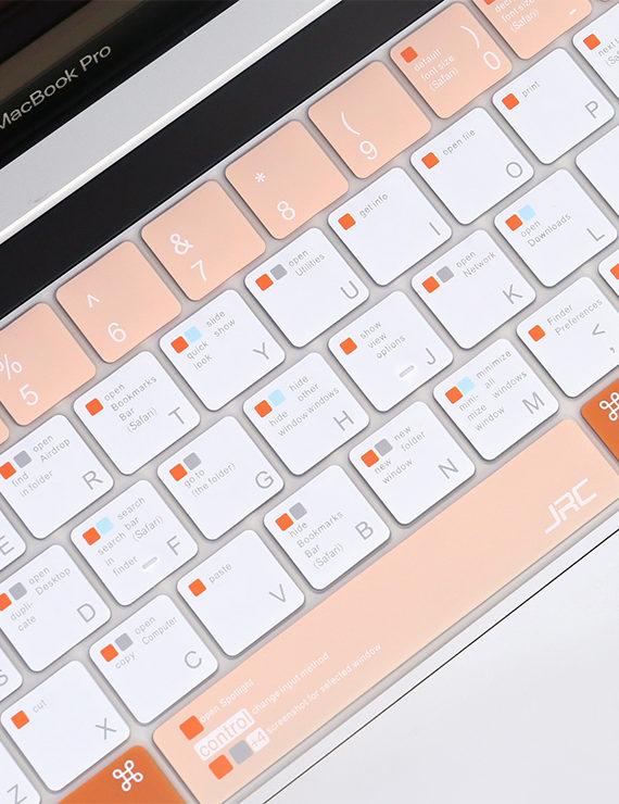 phủ phím macbook 2021 jrc màu cam san hô