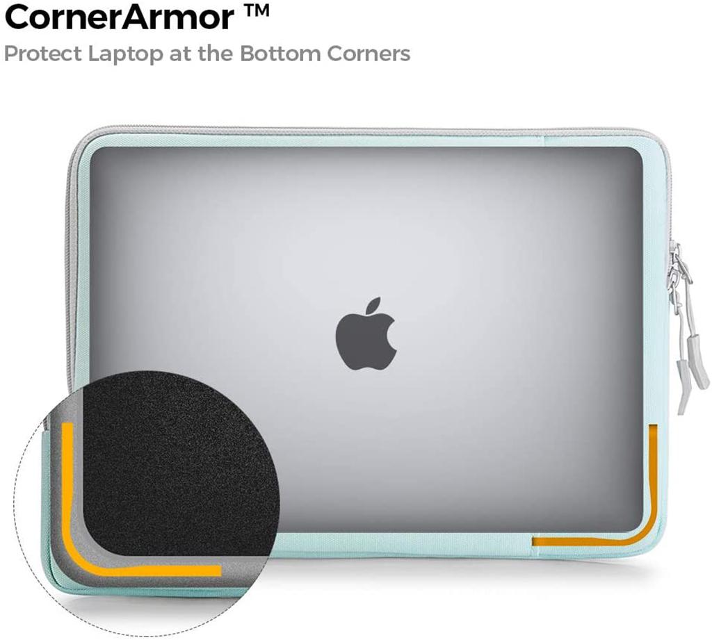 túi chống sốc macbook pro m1 tomtoc xanh nhạt
