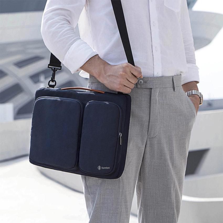 Túi chống sốc Tomtoc A42 màu xanh Navy