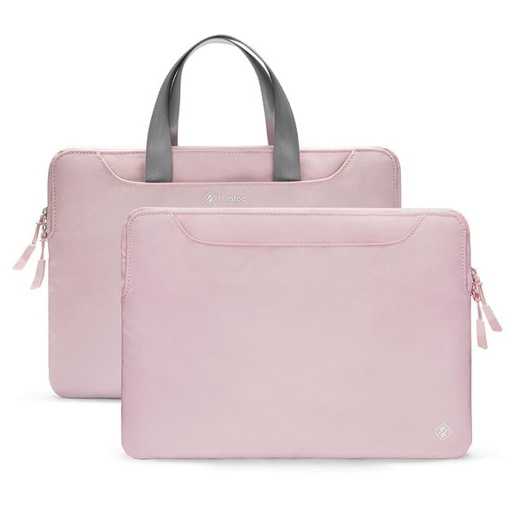 túi xách chống sốc tomtoc 13inch màu hồng nhạt
