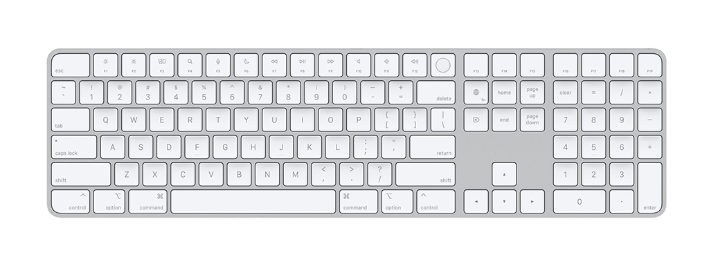 magic keyboard with touch id and numeric